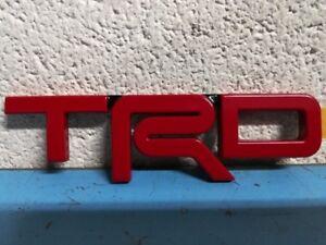 Genuine-Toyota-TRD-Metal-Emblem-Red-OEM-New