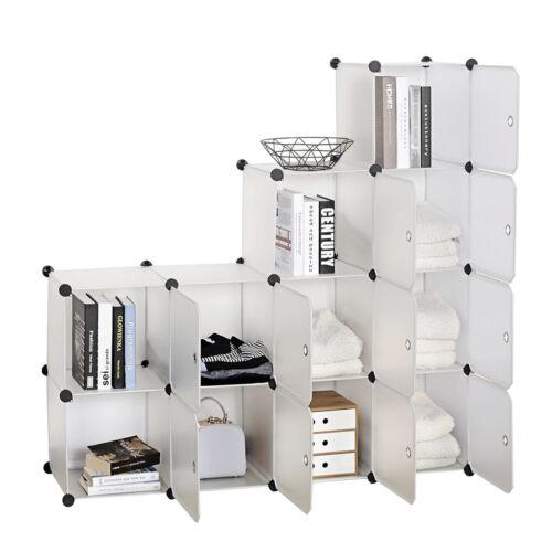 Steckregal Garderobenschrank DIY Kleiderschrank Schuhschrank mit Türen SR0104tp