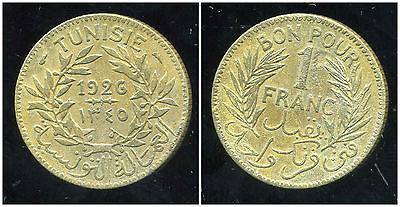 Tunisie 1 Franc 1926 1345 ( Bis )