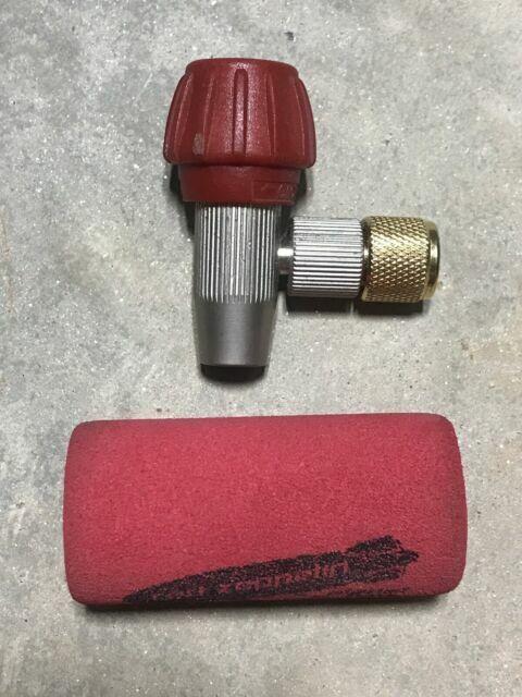 2 Cartridges RED ZEPPELIN-2 Co2 Bike Tire Inflator Head Presta//Schrader Valve