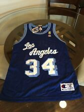 NWT Shaquille O'Neal Lakers 50th Anniversary Gold Logo Champion Jersey Size 40