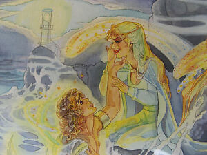 1984-SELKIE-MERMAID-LOVE-w-c-Painting-SHERRY-WHEELER-ANIMATION-ARTIST