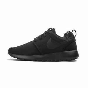 9a02f88ba1b65 844994-001  Women s Nike Roshe 1 Shoe BLACK BLACK-DARK GREY  NEW