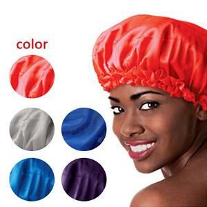 New Sleeping Hat Night Sleep Cap Hair Care Satin Bonnet Nightcap For ... 8269fcf052f