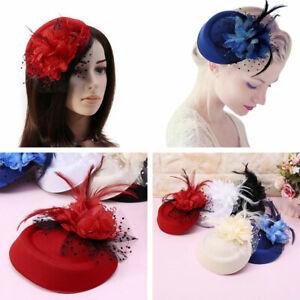 Women-Elegant-Wedding-Party-Cocktail-Headband-Feather-Flower-Mesh-Hat-Fascinator