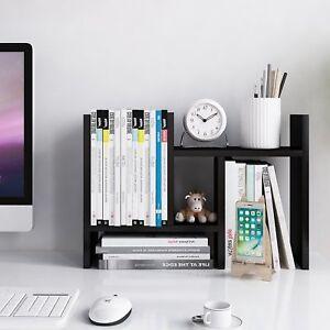 Jerry  Maggie - Desktop Organizer Office Storage Rack Adjustable Wood Display