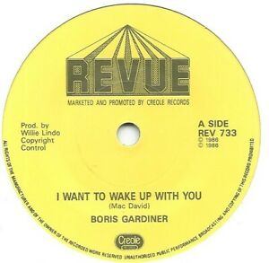 Boris Gardner I Wanna Wake Up With You 7 Vinyl 45rpm Ebay
