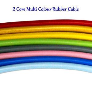 2-Core-0-75-mm-PVC-Cable-Flexible-Plat-1-m-Flex-fil-electrique-multi-couleur-UK