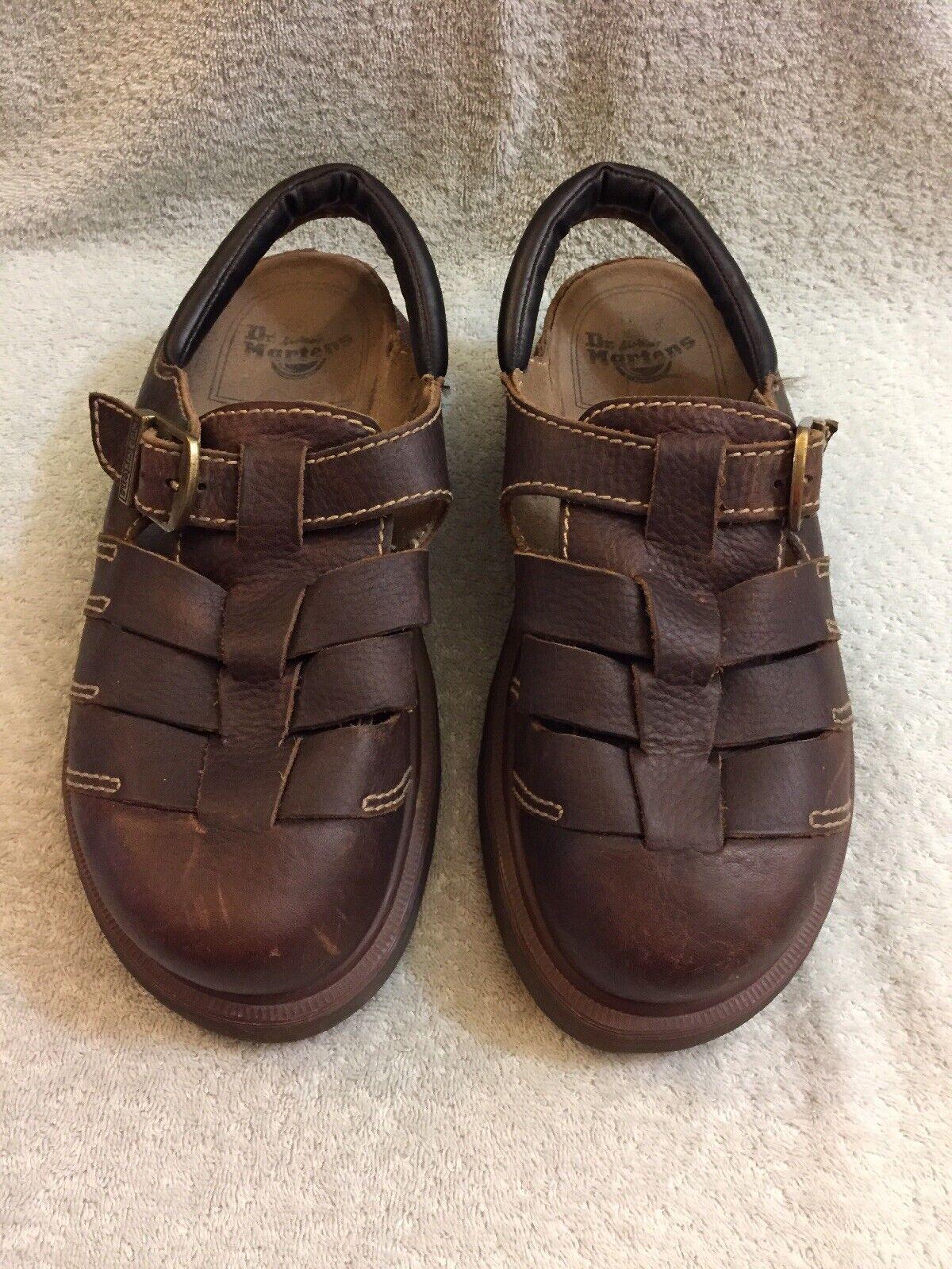 Dr Martens 8332 Brown Leather Fisherman Sandals Men's Size Uk11 US 12