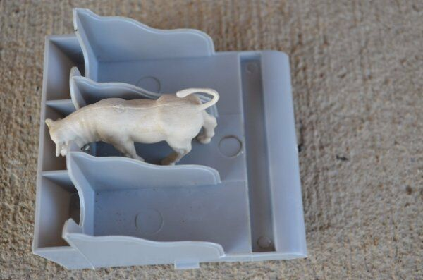 Marx Dairy Farm Stall Livestock Animals Horses Barn 1/32 54MM Plastic Toy