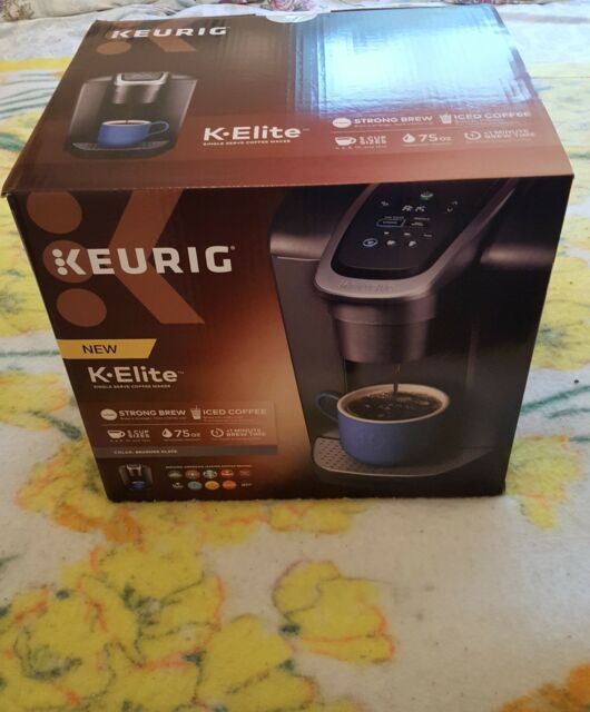 Keurig K Elite Single Serve Brushed Slate Coffee Maker Slate New