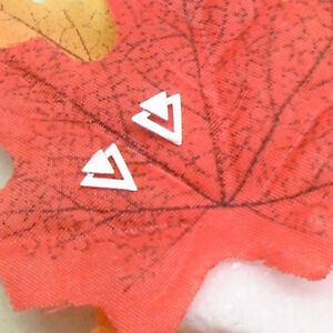 Ecke-Dreieck-mattiert-Design-Ohrringe-Ohrstecker-Stecker-925-Sterling-Silber-neu