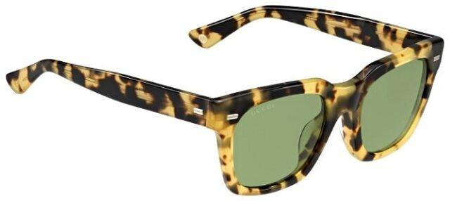 efff88f141f GUCCI Square Sunglasses GG 1099 S Tortoise Havana Brown Green Lenses 00FDJ