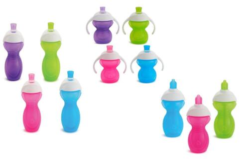 Sippy Cup Flip Straw Cup Munchkin Chew Proof Click Lock  Trainer Cup