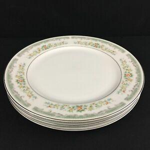 Set-of-3-VTG-Dinner-Plates-Roseville-Japan-Translucent-Fine-China-4135-Floral