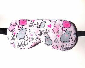 Cat Sleep Mask Eye Shade Cute Blindfold Little Girl Women Night Nap ... fc2503a0c