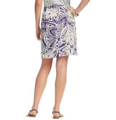 Ann Taylor LOFT Botanical Print Summer Stroll Skirt Size 8 Regular 10P NWT 6P