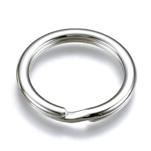 KEY-RING-Split-ring-Keyring-Genuine-Solid-925-sterling-silver-Father-gift