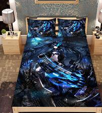 Anime Black Rock Shooter BRS Cosplay Micro Fiber Bed Sheet Blanket Gift#Z-X-18