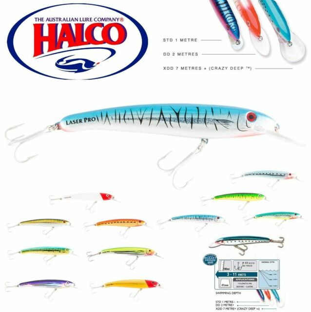 HALCO TROLLING /& CASTING LURE  LASER PRO 160 DD