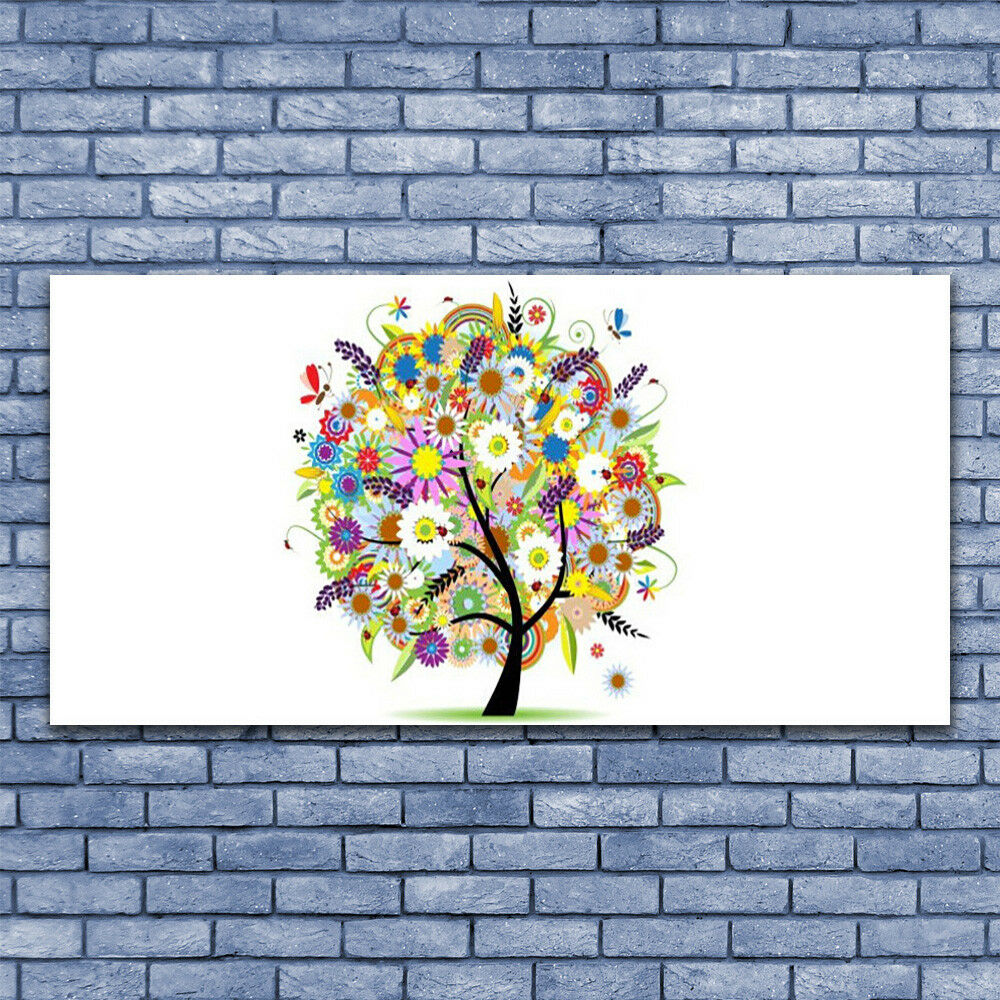 Print on Glass Wall art 140x70 Picture Image Tree Art