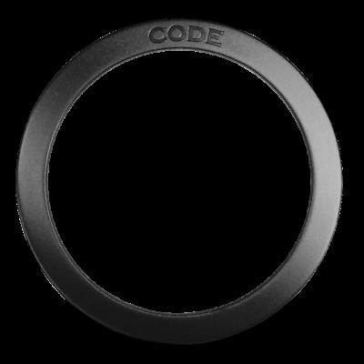 "Code 4 /"" inch Black Port Hole Bass Kick Drum Head protector reinforcer"