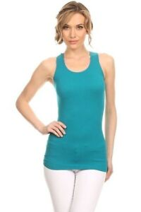 New-Women-039-s-Juniors-Stretchy-Summer-Ribbed-Racerback-Casual-Basic-Tank-Top