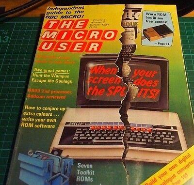 100% Vero Bbc Micro. L'utente Micro Rivista. Ottobre 1984. Bbc B, Maestro.-