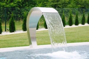 Details about Swimming Pool Waterfall 500 polished Fountain Stainless Steel  Garden Decor