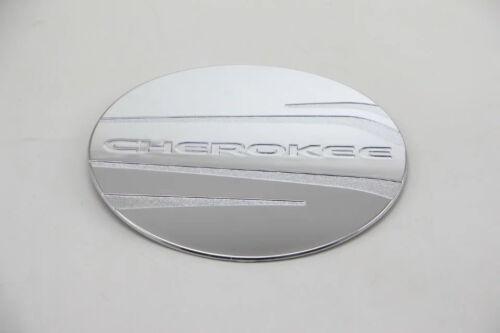 Chrome Gas Cap Oil Tank Cover Trim for 2014-2018 Jeep Cherokee Gasoline Silver