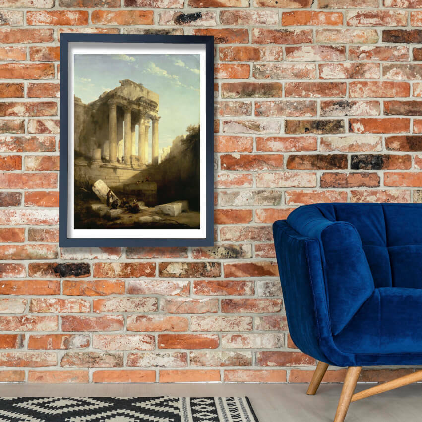 David Roberts - Baalbec - Ruins Of The Temple Of Bacchus Wall Art Poster Print