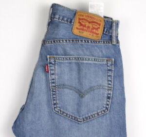 Levi-039-s-Strauss-amp-Co-Hommes-505-Jeans-Jambe-Droite-Taille-W31-L30-AOZ151