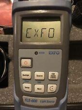 Exfo Fls 600 Singlemode Fiber Optic Light Source Fls 600 With Carry Case