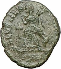 THEODOSIUS I the Great  383AD  Ancient Roman Coin CROSS Victory Nike  i25307