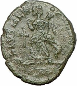 THEODOSIUS-I-the-Great-383AD-Ancient-Roman-Coin-CROSS-Victory-Nike-i25307