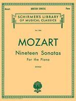 Mozart 19 Sonatas - Complete: Piano Solo (schirmer`s Library Of Musical Classics
