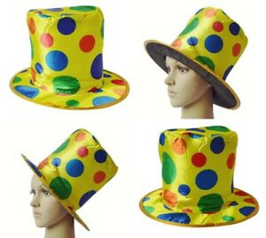 image is loading new clown top hat polka dot rainbow circus