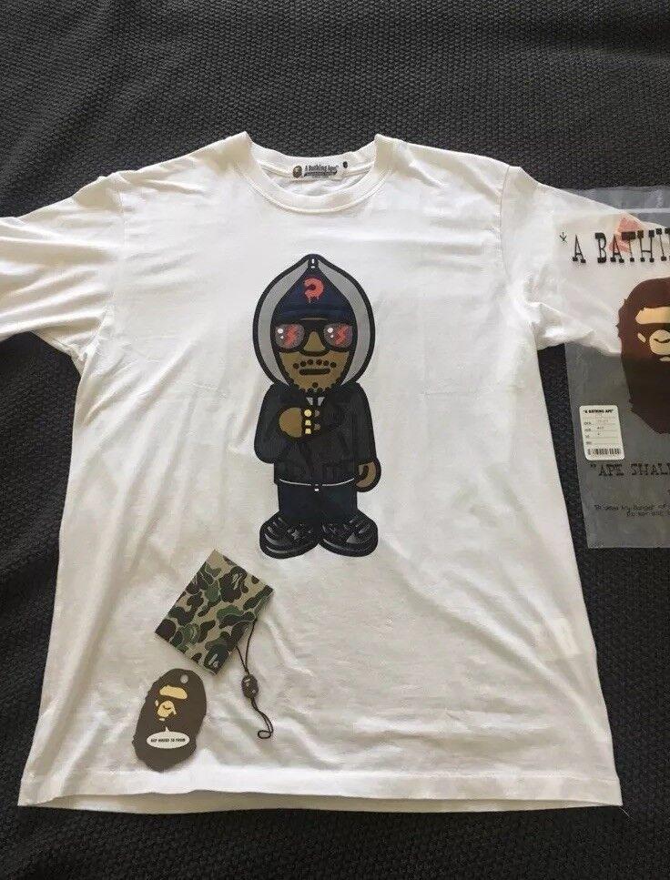 Bape x KID CUDI MR Incazzoso T-shirt a Bathing Ape Bambini vedere fantasmi