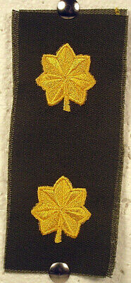 US Army Olive Drab OD Green Fatigue Major Pair Rank Insignia Patch Yellow Color
