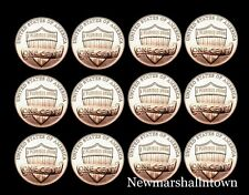 2010 2011 2012 2013 2014 2015 P+D Lincoln Shield Penny Mint Set of 12 in a Roll