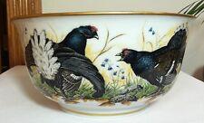 "Limited Franklin Porcelain Bowl 1981 ""The Game Bird Bowl"" by Basil Ede Gold Trim"