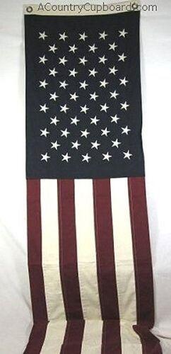 """Navy /& White Panel ~No Tea-staining~Burgundy US Flag 90/"""" x 20/"""" TABLE RUNNER"""