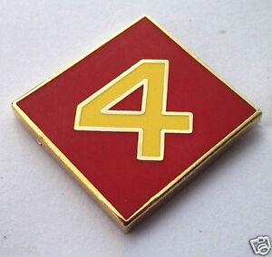 MARINES 4th DIVISION 2ND BATTALION  Military Veteran Hat Pin P15734 EE U.S
