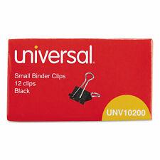 Universal Small Binder Clips 38 Capacity 34 Wide Black 12box 10200