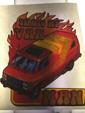 VINTAGE 70s THAT'S MY VAN MAN! IRON-ON TRANSFER T-SHIRT TRANSFER