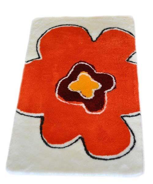 Tapis de Bain Floralis Meusch Orange 70x120cm