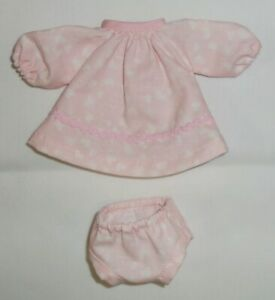 SLEEVELESS RUFFLED PLAY DRESS for your Suzy Cute Doll Bold Pink Check