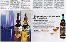 PUBLICITE ADVERTISING 054 1972 RAPHA de ST RAPHAEL apéritif (2 pages)