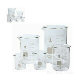 Details about Flask Set Laboratory Glassware Science Lab Chemistry Beaker  Supplies