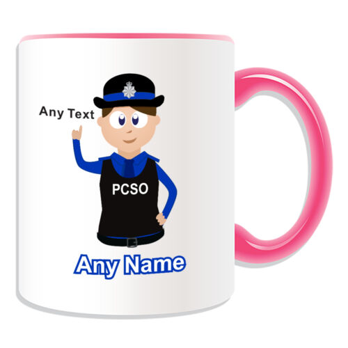 Personalised Gift Police Woman Community Support Officer Mug Money Box PCSO Cup